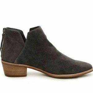 Dolce Vita Suede Leather Blue Grey Slouchy Booties